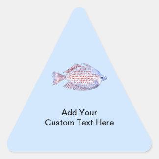 魚。 赤線Rainbowfish. 三角形シール