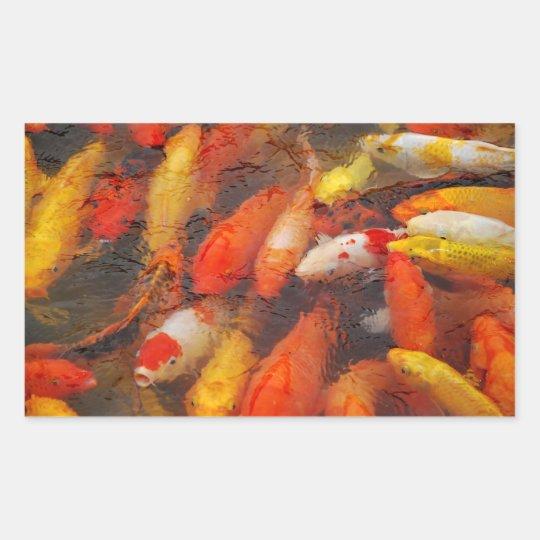 魚 長方形シール