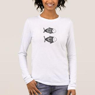 魚 長袖Tシャツ