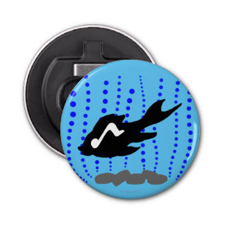 魚、音符および泡 栓抜き