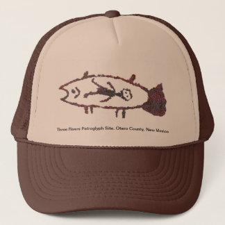 魚、魚のイメージ2の帽子の人 キャップ