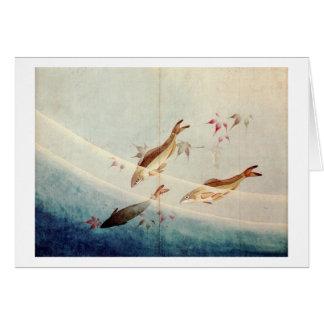 鮎、北斎Sweetfish、Hokusaiの芸術 カード