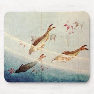鮎、北斎Sweetfish、Hokusaiの芸術 マウスパッド
