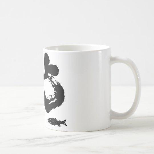 鮎 釣り 書道 切り絵 友釣り コーヒーマグカップ