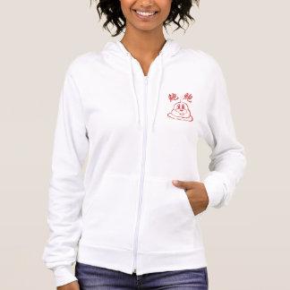 鮑鮑のHanes白く及び赤いComfortBlend®のフード付きスウェットシャツ6 パーカ