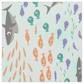 鮫のおもしろい ファブリック