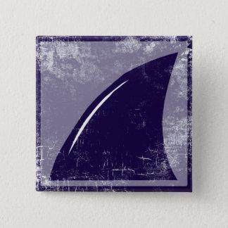 鮫のひれ 5.1CM 正方形バッジ