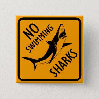 鮫のオーストラリアの印 5.1CM 正方形バッジ