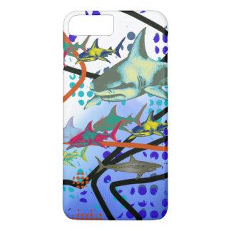 鮫のデジタル絵 iPhone 8 PLUS/7 PLUSケース