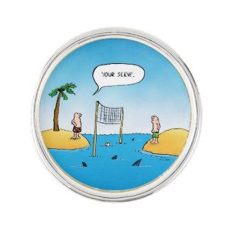 鮫のバレーボールのおもしろいな漫画 ラペルピン