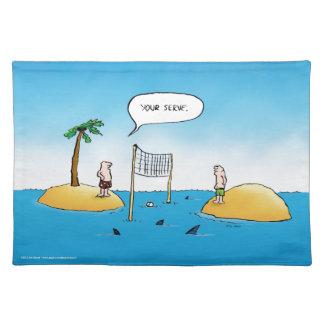 鮫のバレーボールのおもしろいな漫画 ランチョンマット