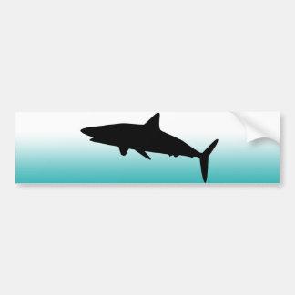 鮫のバンパーステッカー バンパーステッカー