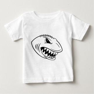 鮫のフットボール ベビーTシャツ