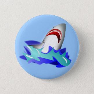 鮫の上昇 5.7CM 丸型バッジ