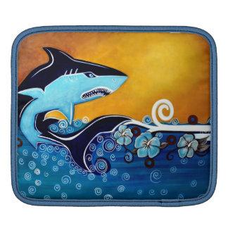 鮫の人力車の袖 iPadスリーブ