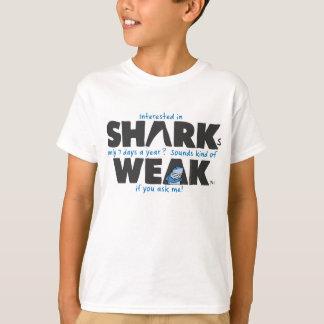 鮫の弱い白はTシャツをからかいます Tシャツ
