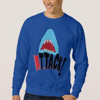 鮫の攻撃のワイシャツ スウェットシャツ