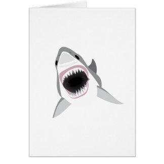 鮫の攻撃-ホホジロザメのかみ傷 グリーティングカード