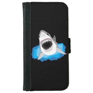 鮫の攻撃-ホホジロザメ iPhone 6/6S ウォレットケース