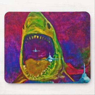 鮫の攻撃 マウスパッド