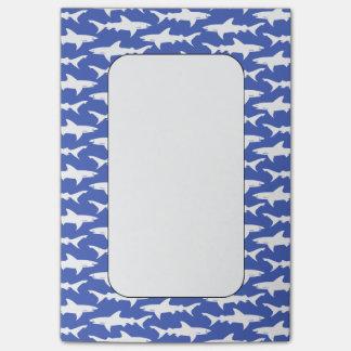 鮫の攻撃-青および白 ポストイット