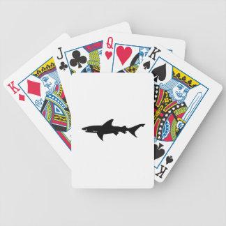 鮫の攻撃-鮫のエレガントな黒のダイビング バイスクルトランプ