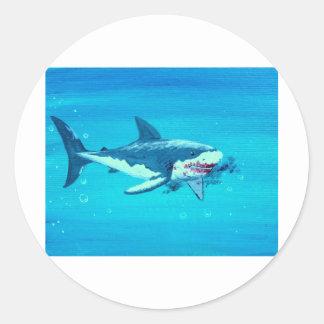 鮫の昼食の髭 ラウンドシール
