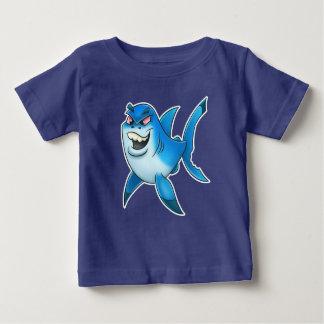 鮫の漫画のベビーのワイシャツ ベビーTシャツ