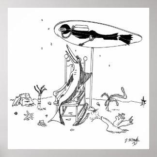 鮫の漫画1087年 ポスター