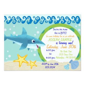 鮫の誕生日の招待状 14 X 19.1 インビテーションカード
