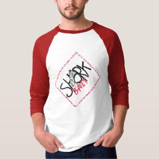 鮫の餌のスタンプ Tシャツ