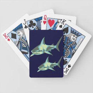 鮫の魚、野生動物 バイスクルトランプ