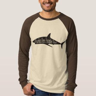 鮫は人々ですも! Tシャツ