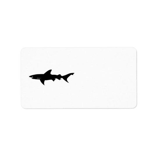 鮫は鮫の引くことの用心します ラベル