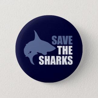 鮫を救って下さい、ひれのスローガンを救って下さい 5.7CM 丸型バッジ
