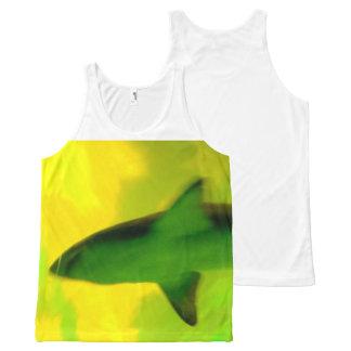 鮫タンク…上 オールオーバープリントタンクトップ