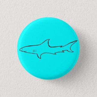 鮫ボタン 3.2CM 丸型バッジ