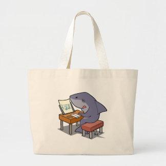 鮫音楽 ラージトートバッグ