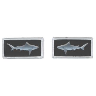 鮫 シルバー カフスボタン