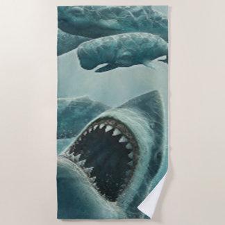 鮫 ビーチタオル