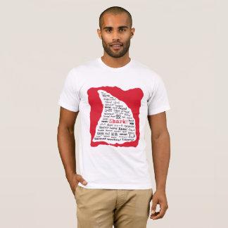 鮫! 言語Tシャツの多く Tシャツ