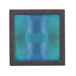 鮮やかでシックな水の青緑の抽象芸術のモダンDesig ギフトボックス