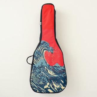 鮮やかでポップ・アートのなスタイルのHokusaiの素晴らしい波 ギターケース