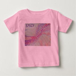 鮮やかで抽象的な混合メディア ベビーTシャツ
