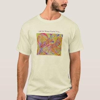 鮮やかで抽象的な混合メディア Tシャツ