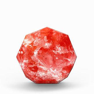 鮮やかで赤いミネラル石 表彰盾