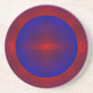 """鮮やかで赤いロイヤルブルー""""啓発された""""パターン コースター"""
