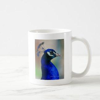 鮮やかで青い孔雀 コーヒーマグカップ