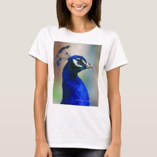 鮮やかで青い孔雀 Tシャツ