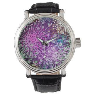 鮮やかなむらがあるパターン 腕時計